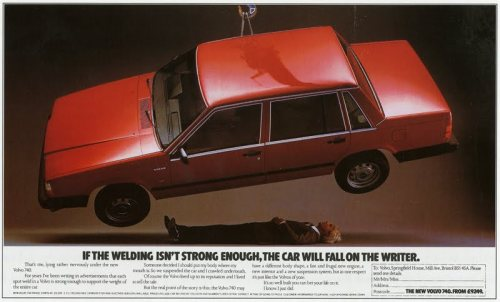 Volvo print ad
