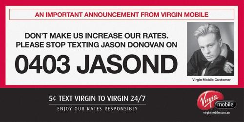 Jason Donovan billboard
